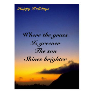 where the grass is greener postcard
