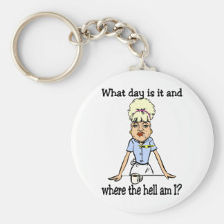where the hell am i basic round button key ring