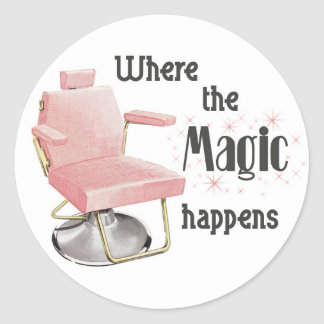 Where the Magic Happens Hair Stylist Sticker