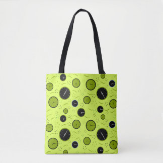 Where the time goes tote bag