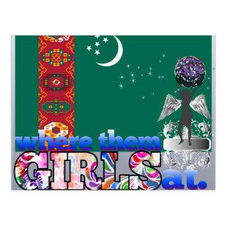 Where them Turkmen girls at? Postcard