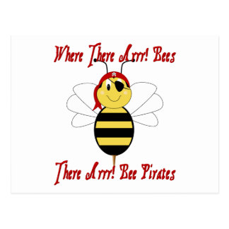 Where There Arrr! Bees Postcard