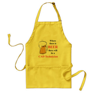Where there is Beer - CAD Technician Standard Apron