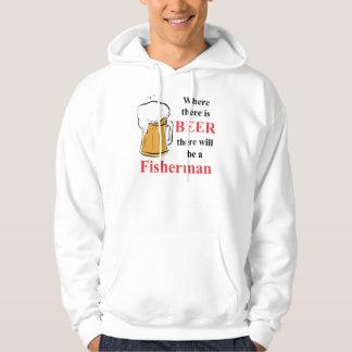 Where there is Beer - fisherman Hoodie