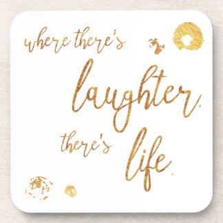 Where There's Laughter coaster set