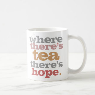 where there's tea there's hope mug