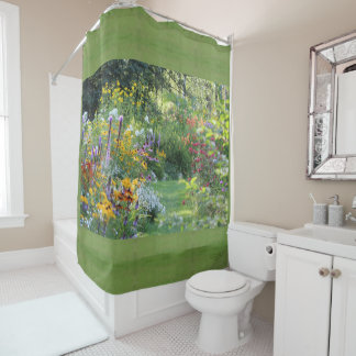 Where Three Gardens Meet, Sage Shower Curtain