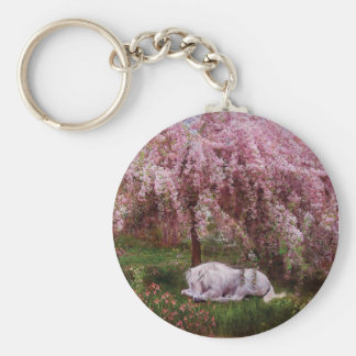 Where Unicorns Dream Art Keychain