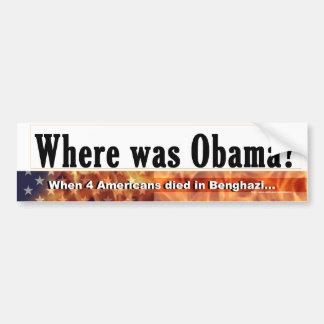 Where was Obama bumper sticker