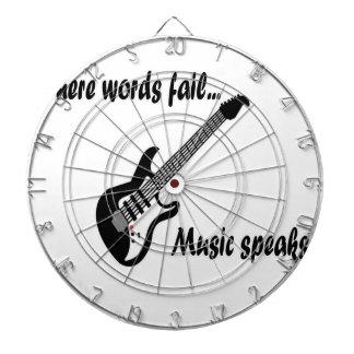 Where Words Fail, Music Speaks Dartboard