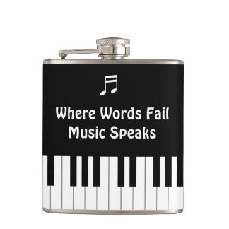 Where Words Fail, Music Speaks Drink Flask
