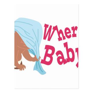 Where's Baby? Postcard