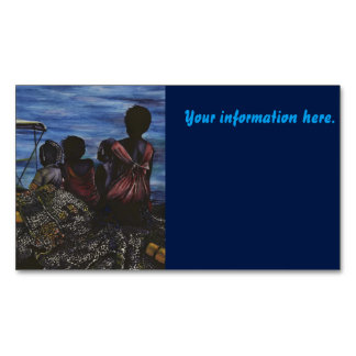 Where's Daddy? Harbor Island Magnetic Business Cards