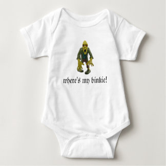 WHERE'S MY BINKIE?ZOMBIE BABY JUMPER light color Baby Bodysuit