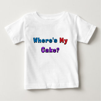 """Where's My Cake?"" baby shirt"