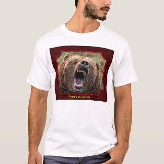 """Where's My Coffee?"" Bear T-Shirt"
