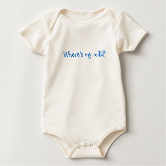 Where's my milk? baby bodysuit