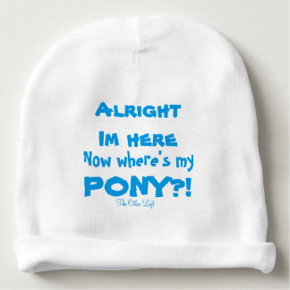 Where's My Pony Baby Beanie in Blue