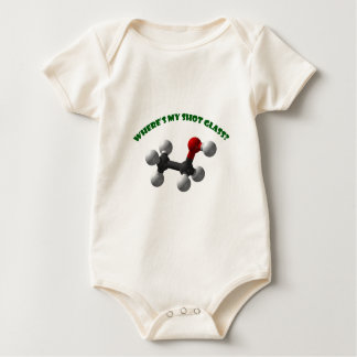 Where's My Shot Glass-Ethanol Baby Bodysuit