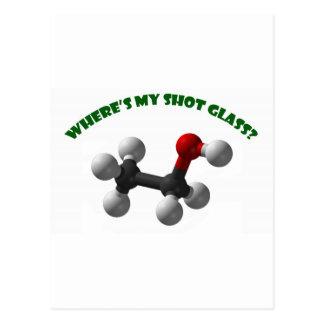 Where's My Shot Glass-Ethanol Postcard