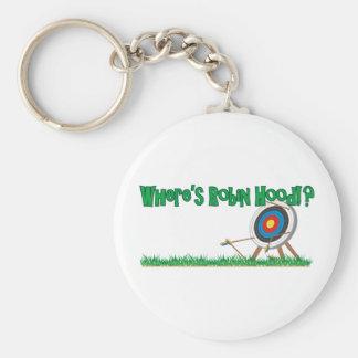 Where's Robin Hood Basic Round Button Key Ring