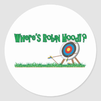 Where's Robin Hood Round Sticker