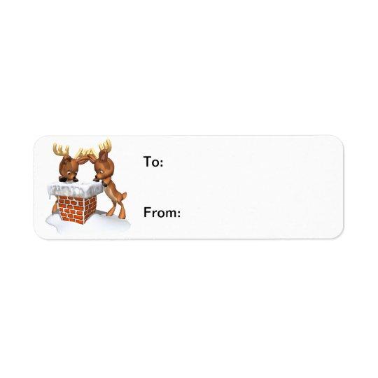 Where's Santa Gift Tag Avery Label Return Address Label