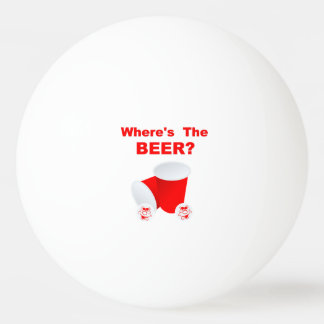 Where's The Beer Ping Pong Ball