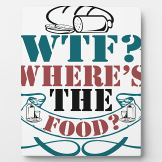 Where's The Food? Photo Plaques