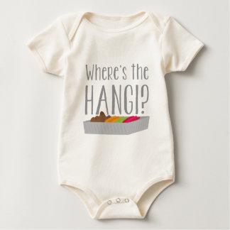 Wheres the HANGI? (New zealand maori feast) Baby Bodysuit