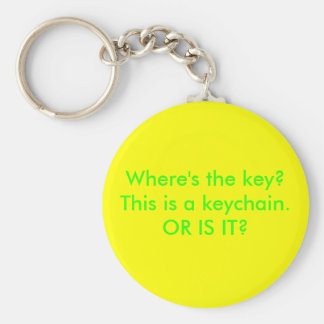 Where's the key? basic round button key ring