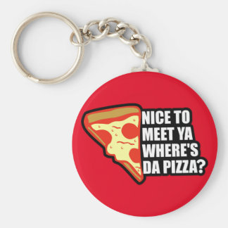 Where's the Pizza Basic Round Button Key Ring