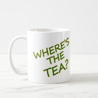 Where's the tea? coffee mug