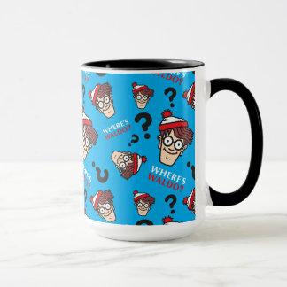 Where's Waldo Blue Pattern Mug