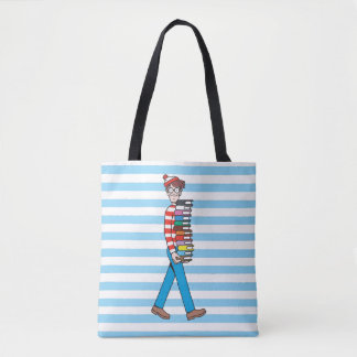 Where's Waldo Carrying Stack of Books 2 Tote Bag