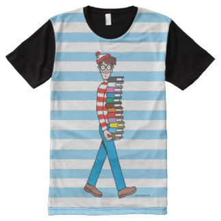 Where's Waldo Carrying Stack of Books All-Over Print T-Shirt