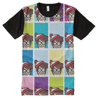 Where's Waldo Colorful Pattern All-Over Print T-Shirt