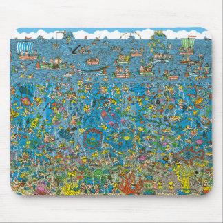 Where's Waldo Deep Sea Divers Mouse Pad