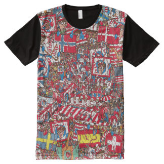 Where's Waldo Enormous Party All-Over Print T-Shirt