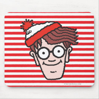 Where's Waldo Face Mouse Pad