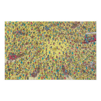 Where's Waldo | Gold Rush Poster
