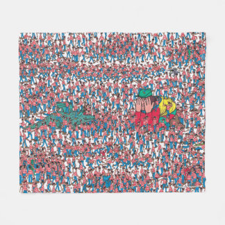 Where's Waldo   Land of Waldos Fleece Blanket