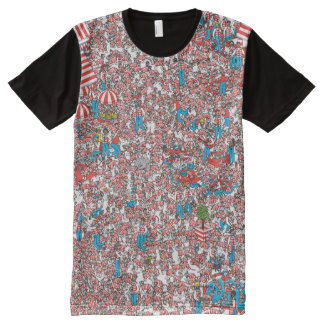 Where's Waldo Land of Woofs All-Over Print T-Shirt