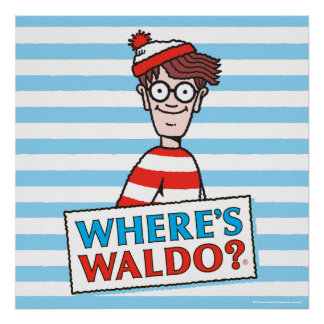 Where's Waldo Logo Poster