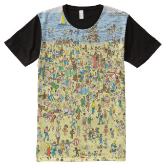 Where's Waldo on the Beach All-Over Print T-Shirt