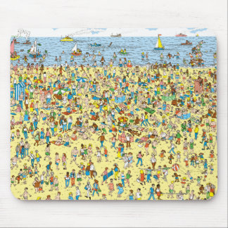 Where's Waldo on the Beach Mouse Pad