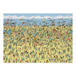 Where's Waldo on the Beach Posters