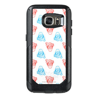 Where's Waldo Red and Blue Face Pattern OtterBox Samsung Galaxy S7 Case
