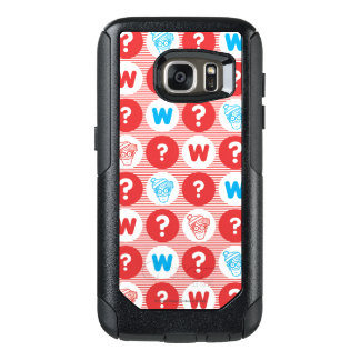 Where's Waldo Red, White and Blue Pattern OtterBox Samsung Galaxy S7 Case