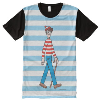 Where's Waldo Walking Stick All-Over Print T-Shirt